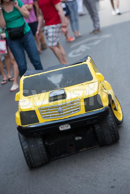 Bangkok, Thailand - May 6, 2017 : TRANSFORMERS The Ride: The 3D Battle statue of Autobot Bubblebee robot at Bangkok, ...