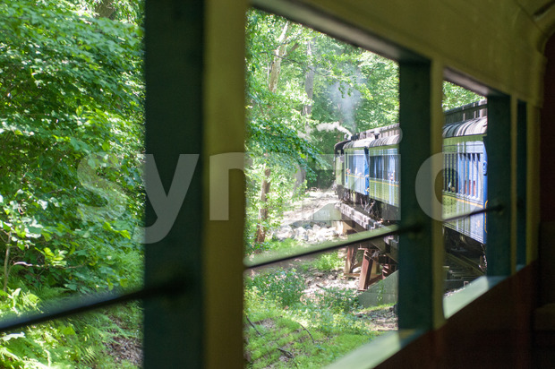 WILMINGTON, DE JUNE 15: View of The Wilmington and Western rail road is a heritage train line for visitors going ...