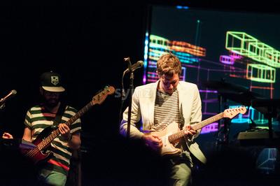 PHILADELPHIA, PA - SEPTEMBER 20: Band OK Go performs in Philadelphia on September 20, 2014. Stock Photo