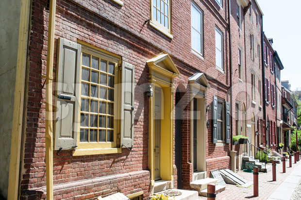 PHILADELPHIA, PA - MAY 14: The historic Old City in Philadelphia, Pennsylvania. Elfreth's Alley, referred to as the nation's oldest residential Stock Photo
