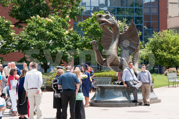 PHILADELPHIA, PA - JUNE 13: Drexel University Campus in the University City section of West Philadelphia on graduation day on June 13, 2014 Stock Photo
