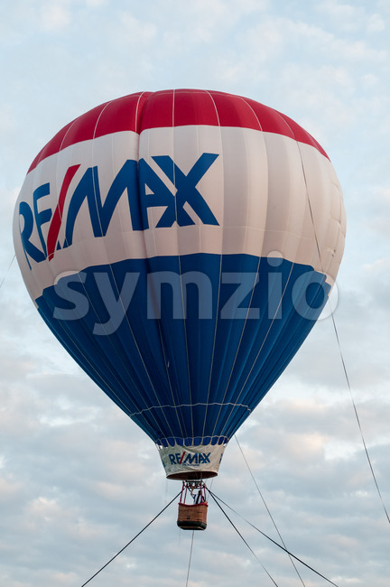 EAST GOSHEN, PA - JUNE 21: View of The Remax balloon floating at East Goshen Day on June 21, 2014