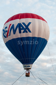 EAST GOSHEN, PA - JUNE 21: The Remax balloon floating at East Goshen Day on June 21, 2014 Stock Photo