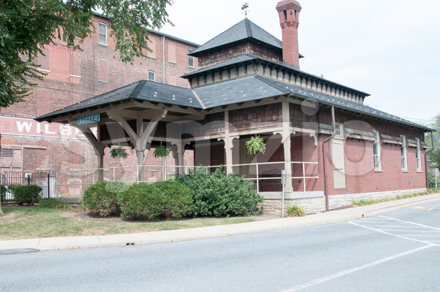 LITITZ, PA - AUGUST 30: View of Old Lititz Railroad Train Station on August 30, 2014