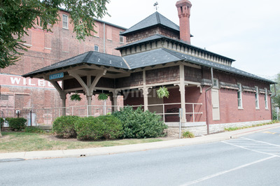 LITITZ, PA - AUGUST 30: Old Lititz Railroad Train Station on August 30, 2014 Stock Photo