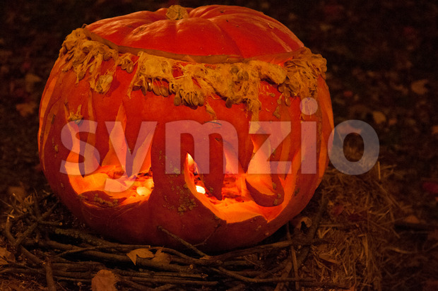 CHADDS FORD, PA - OCTOBER 26: The Great Pumpkin Carve carving contest on October 26, 2013 Stock Photo