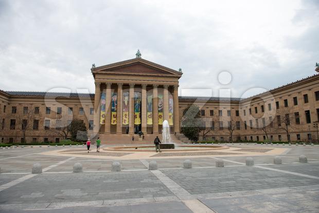 PHILADELPHIA, PA - APRIL 19: Front Entrance of the Philadelphia Museum of Art on April 19, 2013 Stock Photo