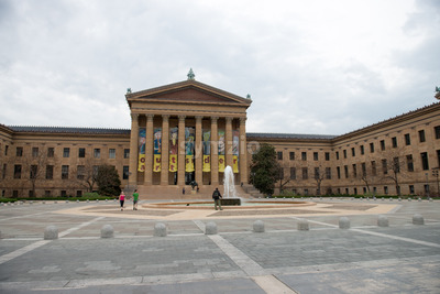 PHILADELPHIA, PA - APRIL 19: Front Entrance of the Philadelphia Museum of Art on April 19, 2013 Stock Photo