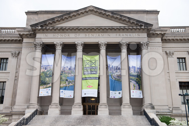 PHILADELPHIA, PA - APRIL 19: Exterior of Benjamin Franklin Institute, Philadelphia on April 19, 2013 Stock Photo