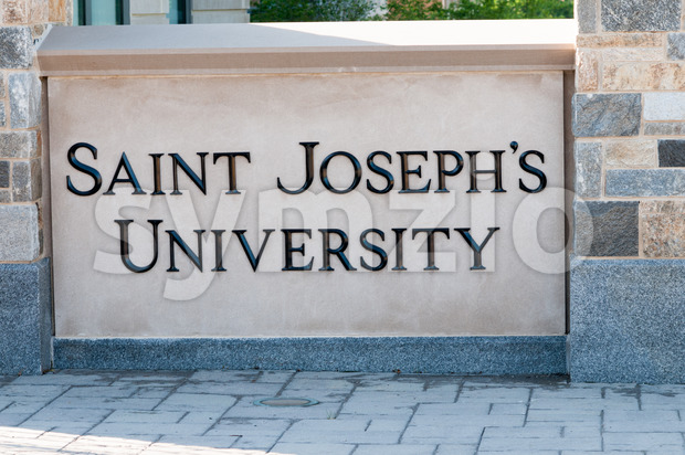 PHILADELPHIA, PA - MAY 17: Saint Joseph's University campus on graduation day May 17, 2014 Stock Photo