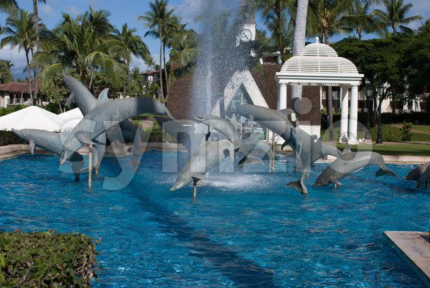 MAUI, HI - DECEMBER 15: View of The Grand Wailea, a Waldorf Astoria hotel, is one of several resorts in ...