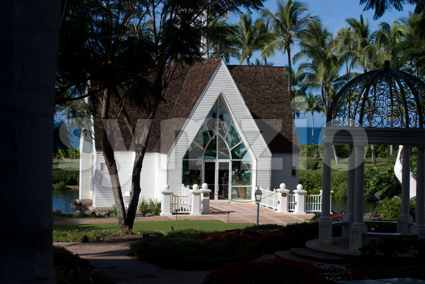 MAUI, HI - DECEMBER 15: The Grand Wailea, a Waldorf Astoria hotel, is one of several resorts in the exclusive Wailea area on the West shore of the Stock Photo