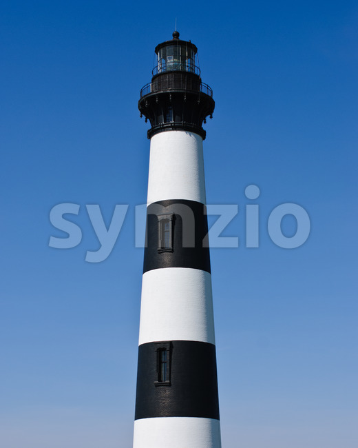 Historic Bodie Island Lighthouse at Cape Hatteras National Seashore on the Outer Banks of North Carolina. Stock Photo