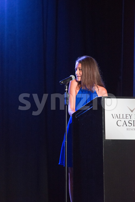 VALLEY FORGE CASINO, KING OF PRUSSIA, PA - JULY 15: Kendall speaking at Kendall's Crusade fundraising event to raise awareness of Arteriovenus Stock Photo