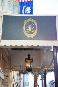 NEW ORLEANS, LA - APRIL 12: Hotel Le Pavillon in Downtown New Orleans, Louisiana, USA on April 12, 2014 Stock Photo