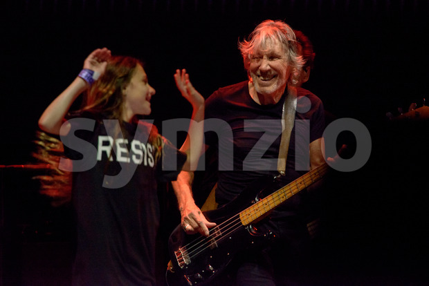 PHILADELPHIA, PA - AUGUST 8: Roger Waters performs in Philadelphia on his Us+Them tour on August 8, 2017 Stock Photo