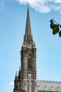 COBH, IRELAND - AUGUST 19, 2017: St. Colman's neo-Gothic cathedral, Cobh, South Ireland Stock Photo