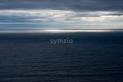 Atlantic Ocean from the Cliffs of Moher Tourist Attraction in Ireland Stock Photo