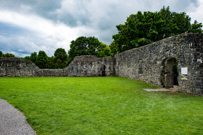 GALWAY, IRELAND - AUGUST 22, 2017: Aughnanure Castle in Ireland near Galway Stock Photo