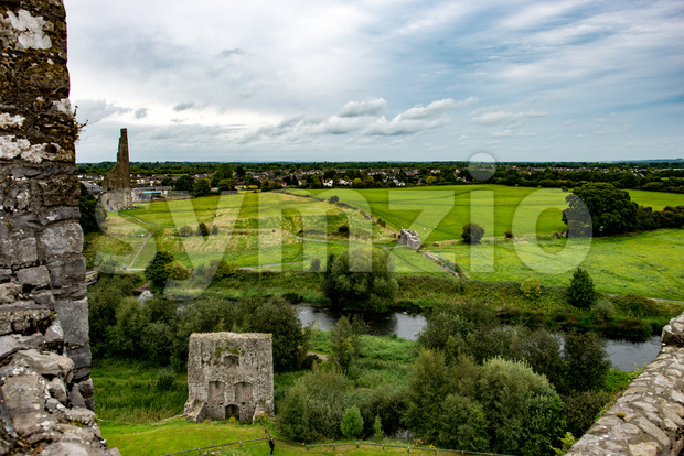 COUNTY MEATH, IRELAND - AUGUST 29, 2017: View of Trim Castle, used in filming of parts of the movie Braveheart, ...