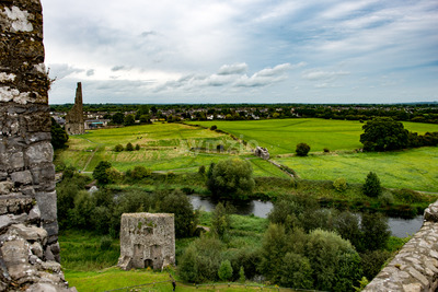 COUNTY MEATH, IRELAND - AUGUST 29, 2017: Trim Castle, used in filming of parts of the movie Braveheart, in County Meath, Ireland Stock Photo