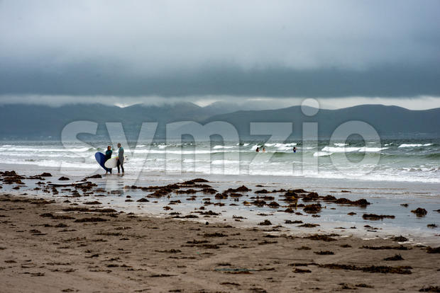 Inch Beach on the wild atlantic way in County Kerry, Ireland Stock Photo