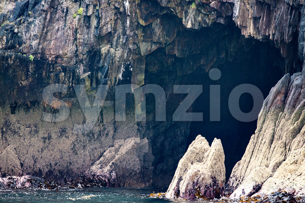 Cliffs and Harbor in Dingle, County Kerry, Ireland Stock Photo