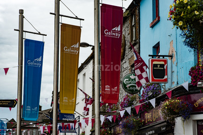 GALWAY, IRELAND - AUGUST 22, 2017: Architecture of city center of Galway Ireland Stock Photo
