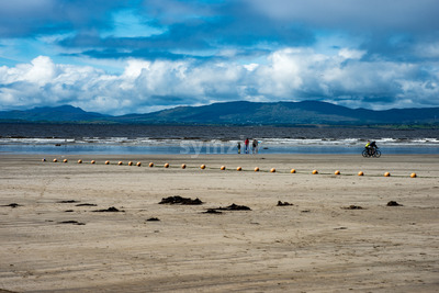 ROSSNOWLAGH, IRELAND - AUGUST 26, 2017: Rossnowlagh Beach, Donegal, Ireland, Europe Stock Photo