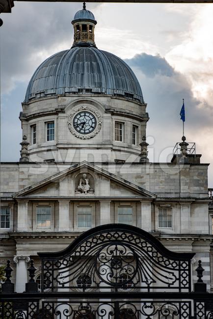 DUBLIN, IRELAND - AUGUST 30, 2017: City of Dublin Ireland Stock Photo