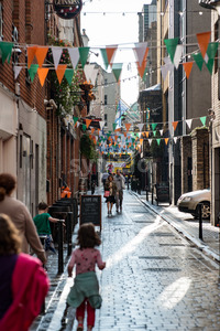 DUBLIN, IRELAND - AUGUST 31, 2017: City of Dublin Ireland Stock Photo