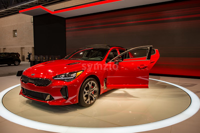 PHILADELPHIA, PA - Feb 3: Kia at the 2018 Philadelphia Auto Show Stock Photo