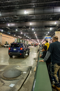 PHILADELPHIA, PA - Feb 3: People enjoying the Jeep experience 2018 Philadelphia Auto Show Stock Photo