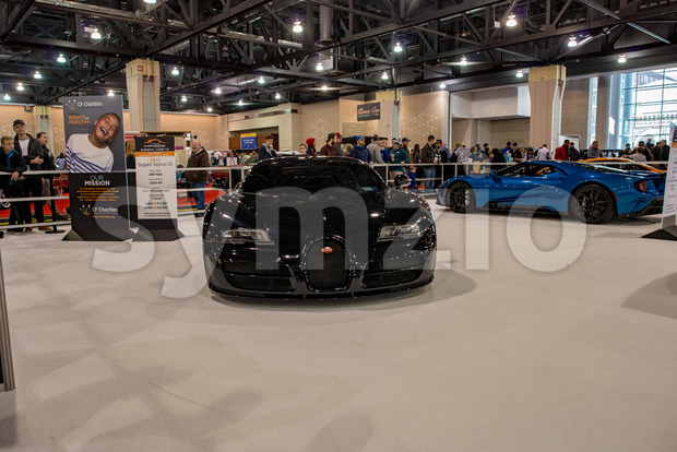 PHILADELPHIA, PA - Feb 3: Bugatti at the 2018 Philadelphia Auto Show Stock Photo