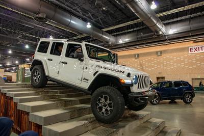 PHILADELPHIA, PA - Feb 3: Jeep at the 2018 Philadelphia Auto Show Stock Photo