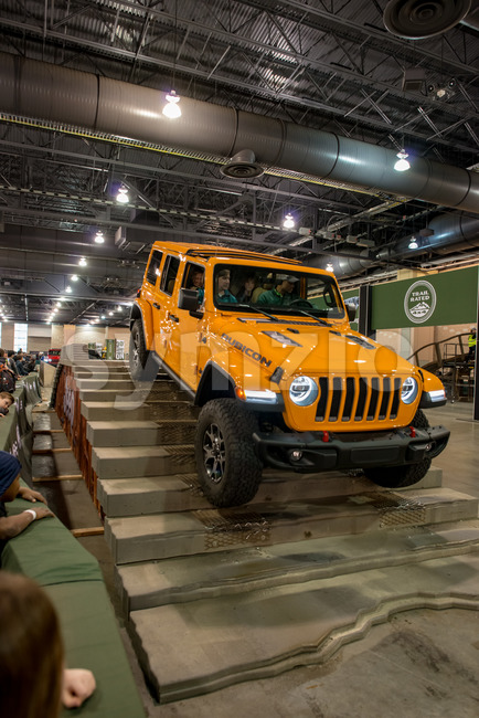PHILADELPHIA, PA - Feb 3: a Jeep at the 2018 Philadelphia Auto Show