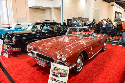 PHILADELPHIA, PA - Feb 3: 1962 Chevy Corvette at the 2018 Philadelphia Auto Show Stock Photo