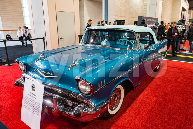 PHILADELPHIA, PA - Feb 3: 1957 Chevy at the 2018 Philadelphia Auto Show Stock Photo