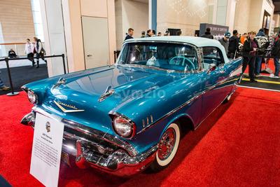PHILADELPHIA, PA - Feb 3: 1957 Chevy at the 2018 Philadelphia Auto Show Stock Photo