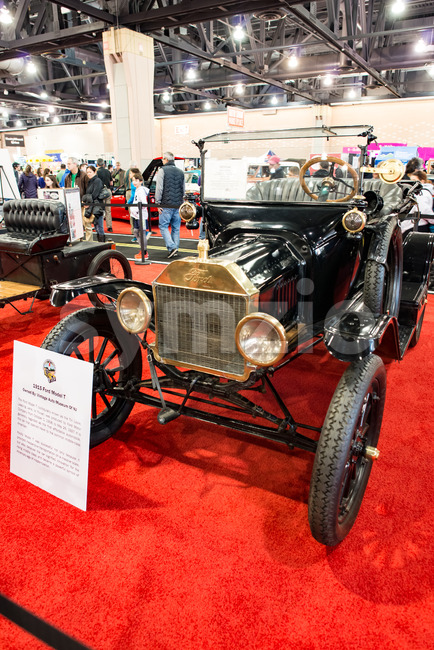 PHILADELPHIA, PA - Feb 3: a 1915 Ford Model T at the 2018 Philadelphia Auto Show