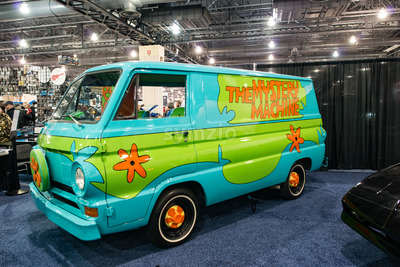 PHILADELPHIA, PA - Feb 3: Scooby Doo Mystery Time Machine Van at the 2018 Philadelphia Auto Show Stock Photo
