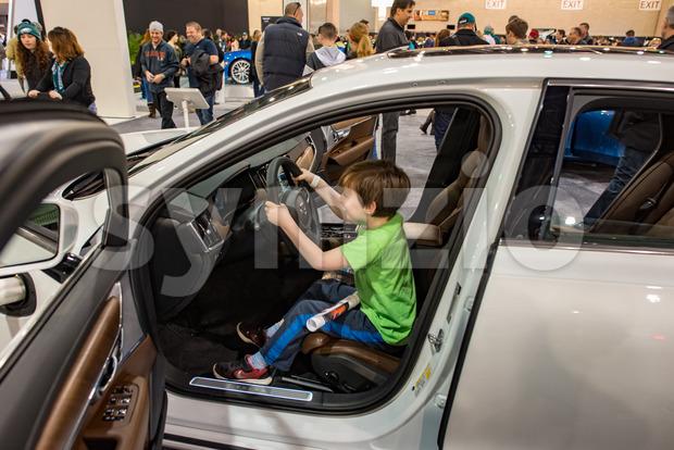 PHILADELPHIA, PA - Feb 3: Volvo at the 2018 Philadelphia Auto Show Stock Photo