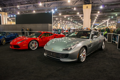 PHILADELPHIA, PA - Feb 3: Ferrari at the 2018 Philadelphia Auto Show Stock Photo