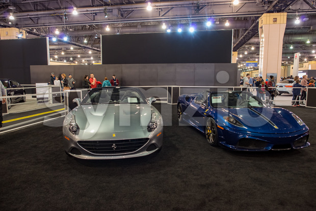 PHILADELPHIA, PA - Feb 3: a Ferrari at the 2018 Philadelphia Auto Show