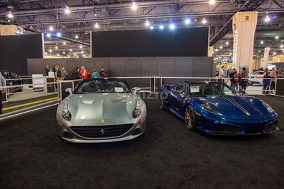 PHILADELPHIA, PA - Feb 3: Ferrari at the 2018 Philadelphia Auto Show Stock Photo