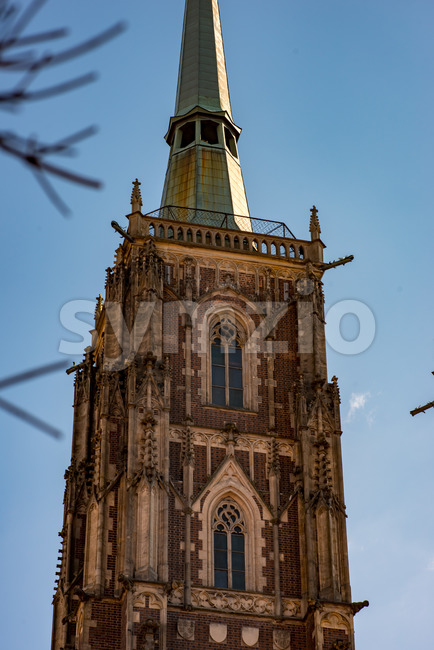 Wroclaw, Poland - March 9, 2018: Cathedral of St. John the Baptist on the Cathedral Island of Wroclaw in Poland Stock Photo