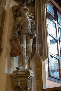 Wroclaw, Poland - March 4, 2018: Wroclaw Town Hall interior in historic capital of Silesia, Poland, Europe. Stock Photo