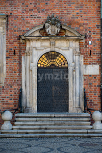 Wroclaw, Poland - March 9, 2018: Wroclaw Town Hall details in morning in historic capital of Silesia, Poland, Europe. Stock Photo