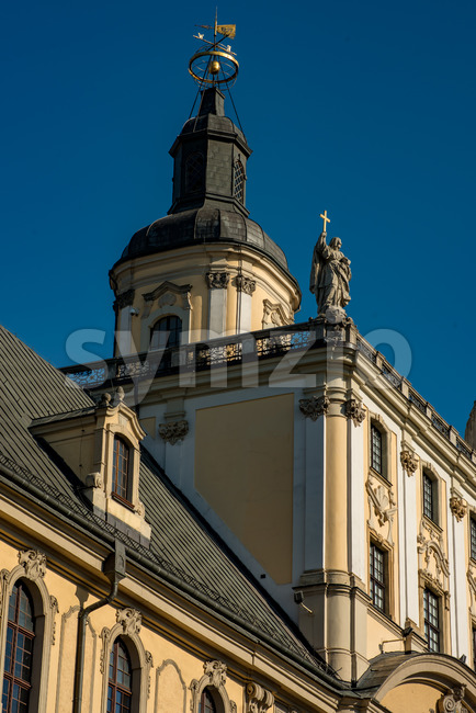 Wroclaw, Poland - March 9, 2018: University of Wroclaw, mathematical tower Stock Photo