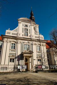 Wroclaw, Poland - March 9, 2018: Wroclaw Old Town historic area in the morning. Stock Photo